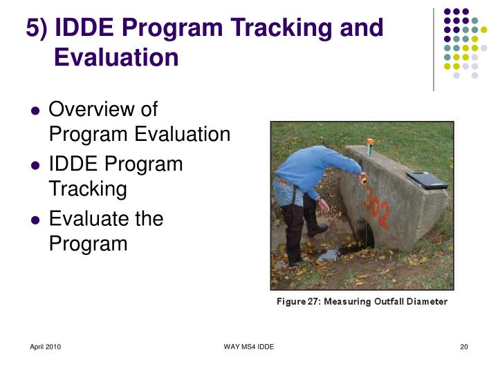 5) IDDE Program Tracking and