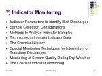 7 indicator monitoring