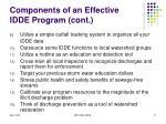 components of an effective idde program cont