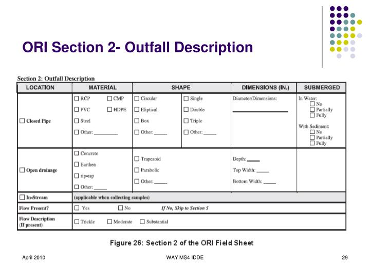 ORI Section 2- Outfall Description