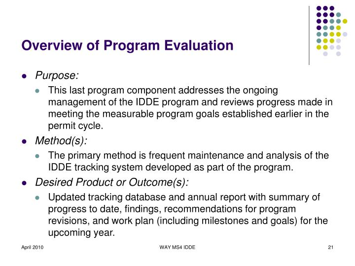Overview of Program Evaluation