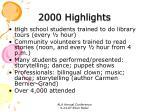 2000 highlights