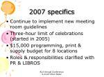 2007 specifics