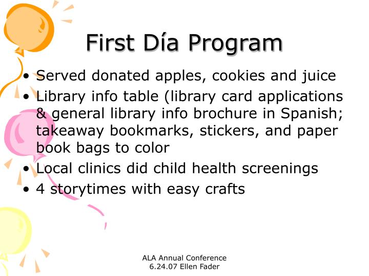 First Día Program