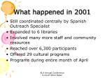 what happened in 2001