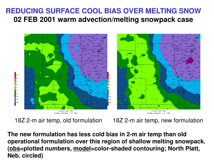 REDUCING SURFACE COOL BIAS OVER MELTING SNOW