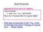 quick exercise