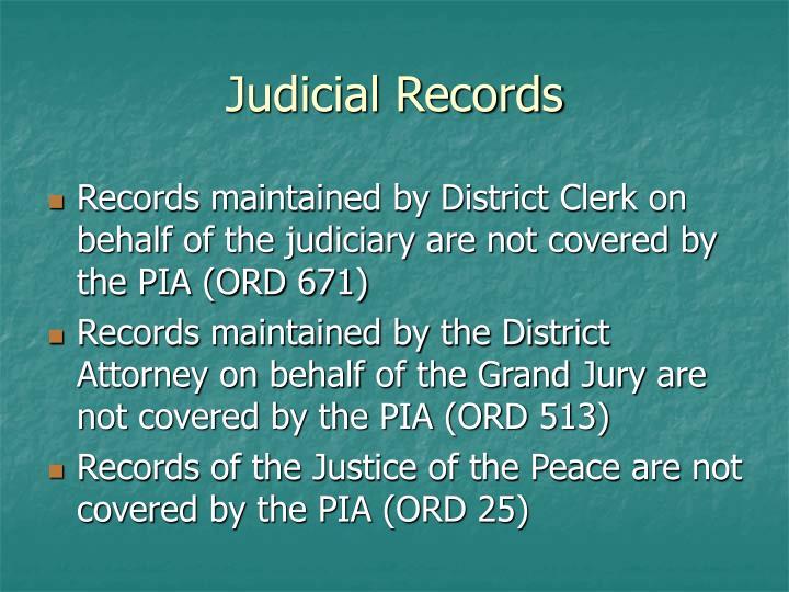 Judicial Records