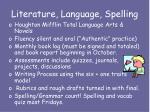 literature language spelling