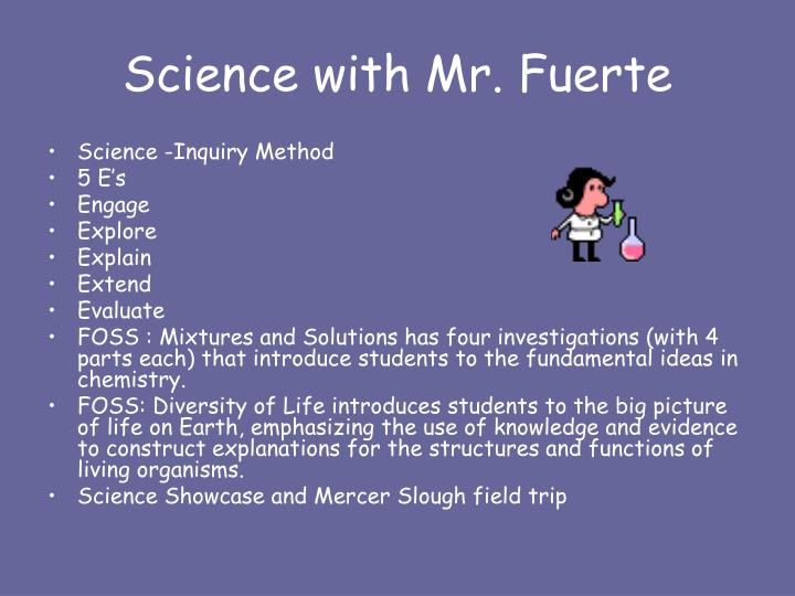 Science with Mr. Fuerte