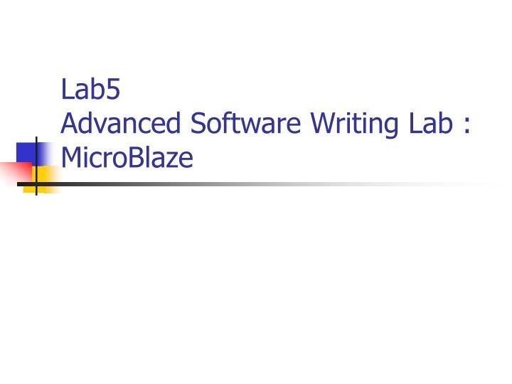 lab5 advanced software writing lab microblaze