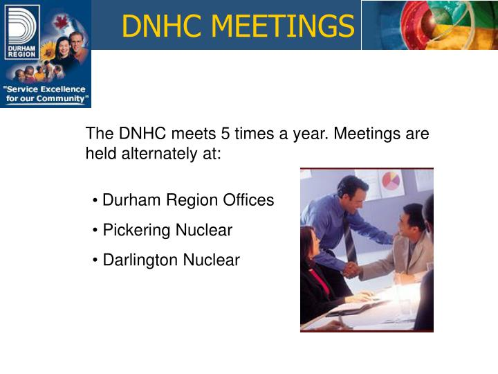 DNHC MEETINGS