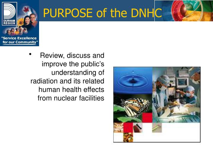 PURPOSE of the DNHC