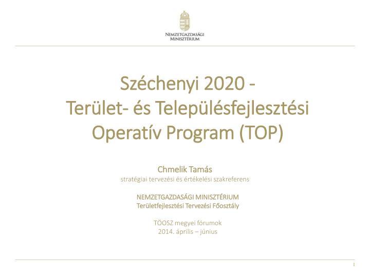 Széchenyi 2020 -