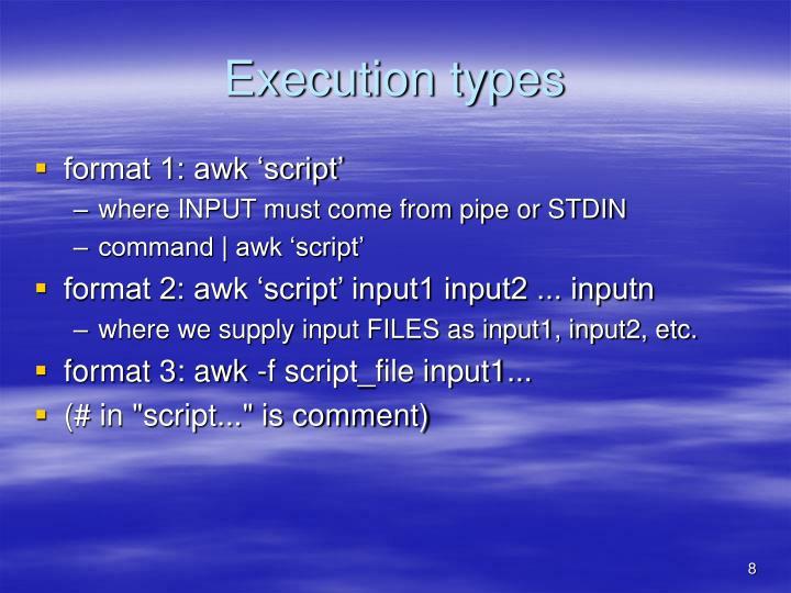 Execution types