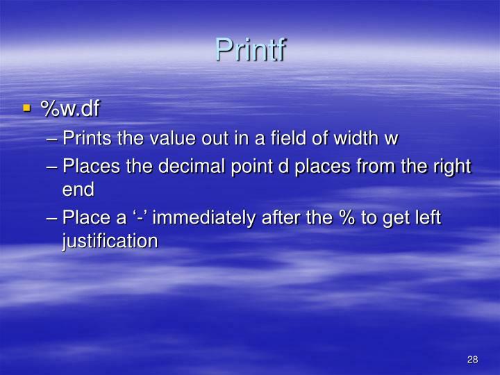 Printf