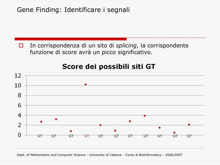 Gene Finding: Identificare i segnali