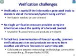 verification challenges