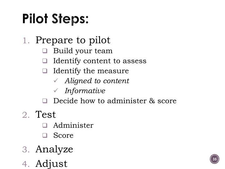 Pilot Steps: