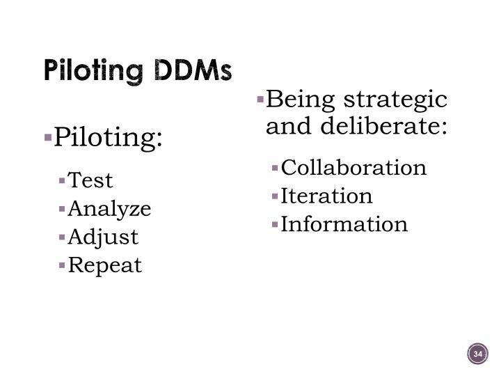 Piloting DDMs