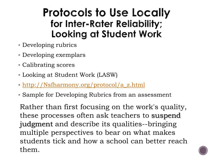 Protocols to Use Locally