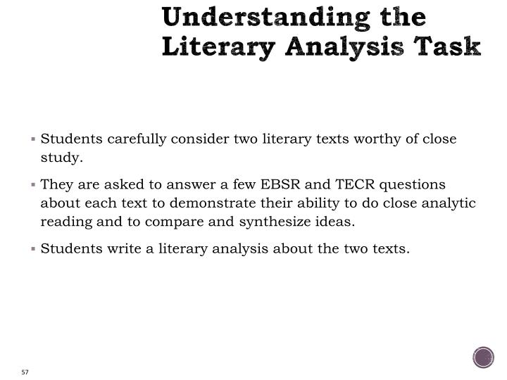 Understanding the Literary Analysis Task