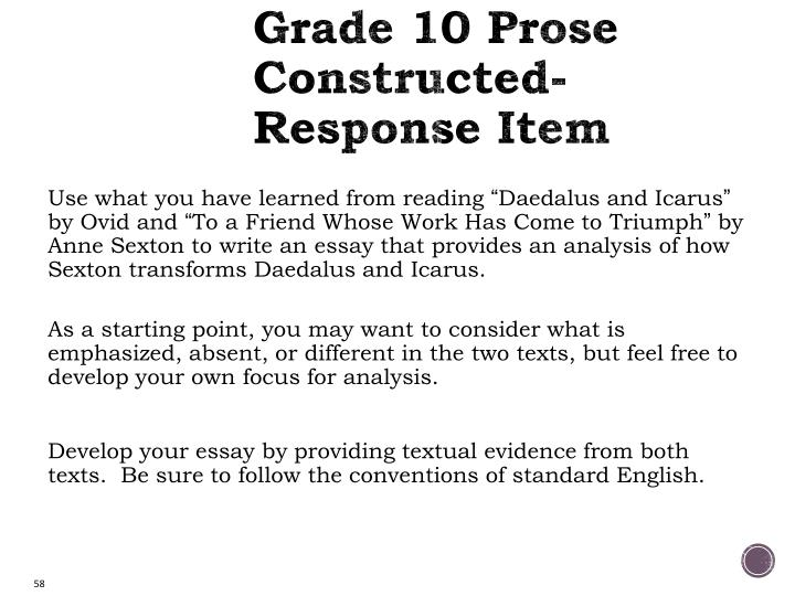 Grade 10 Prose Constructed-Response Item