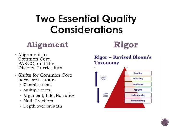 Two Essential Quality Considerations