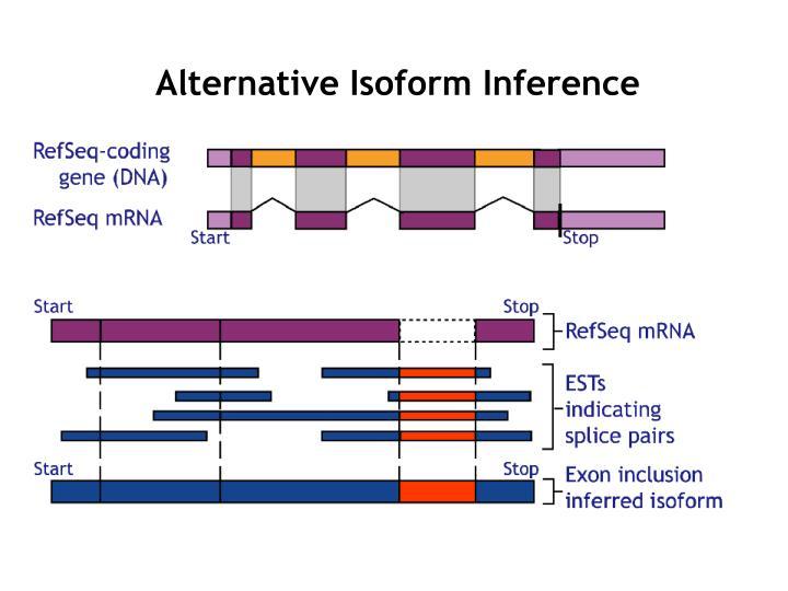 Alternative Isoform Inference
