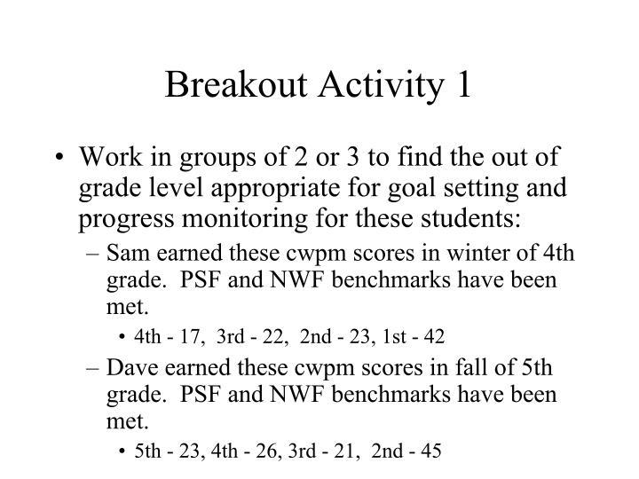Breakout Activity 1