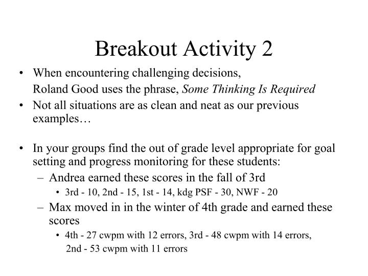 Breakout Activity 2