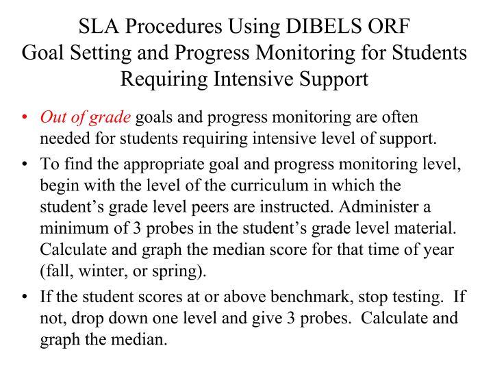 SLA Procedures Using DIBELS ORF