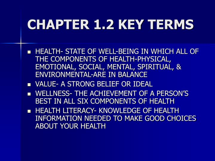 CHAPTER 1.2 KEY TERMS