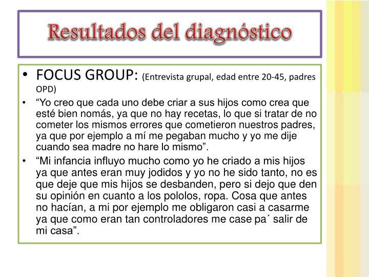 Resultados del diagnóstico