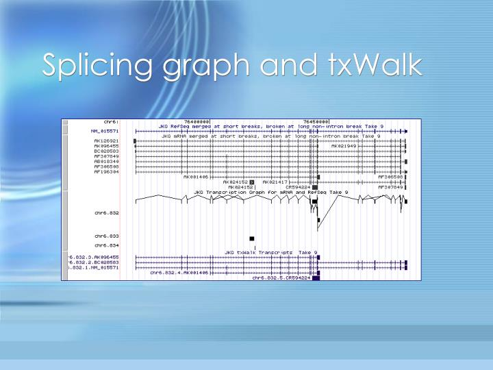 Splicing graph and txWalk