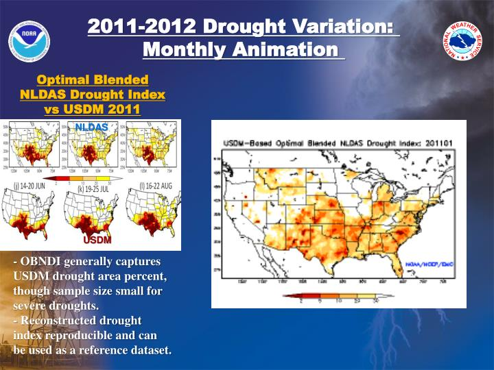 2011-2012 Drought Variation: