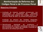 monitoriza o da reforma dos c digos penal e de processo penal