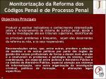 monitoriza o da reforma dos c digos penal e de processo penal1