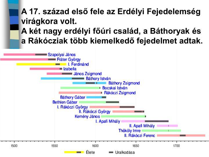 A 17. század első fele az Erdélyi Fejedelemség virágkora volt.