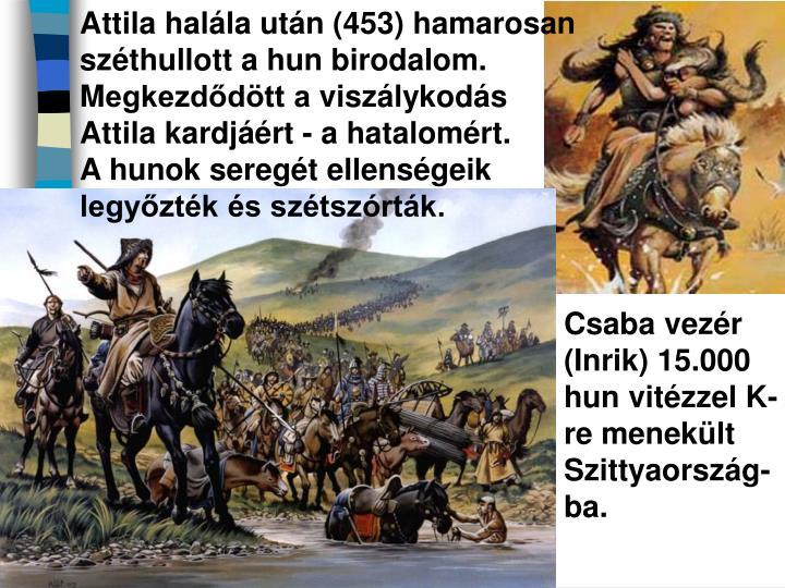 Attila halála után
