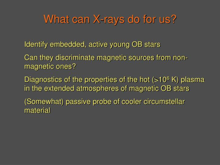 What can X-rays do for us?