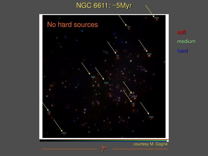 NGC 6611: ~5Myr