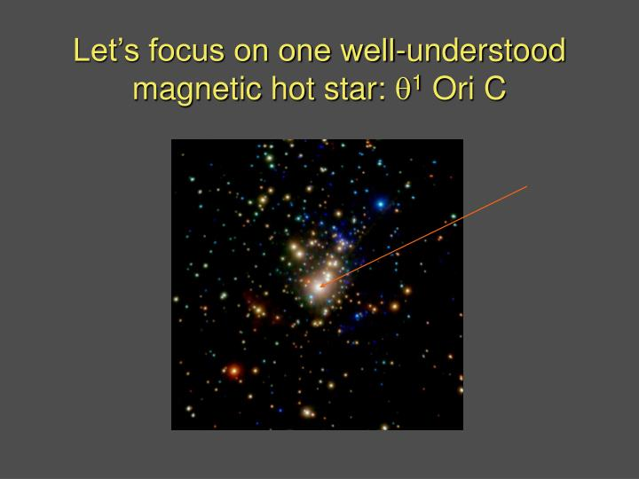 Let's focus on one well-understood magnetic hot star:
