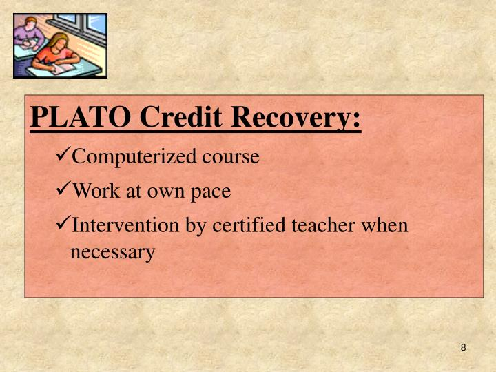 PLATO Credit Recovery: