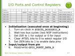 i o ports and control registers1