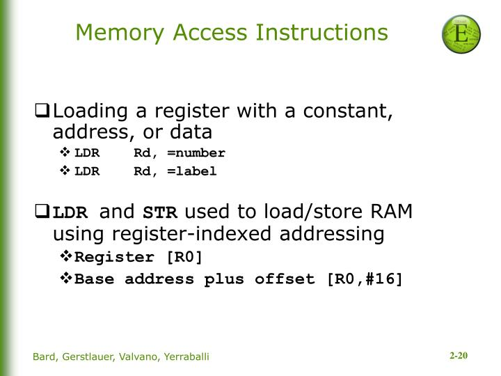 Memory Access Instructions