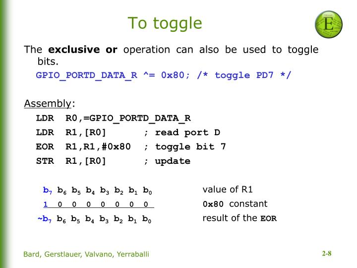 To toggle