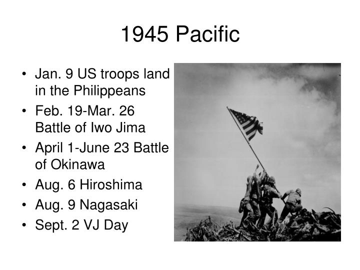 Jan. 9 US troops land in the Philippeans