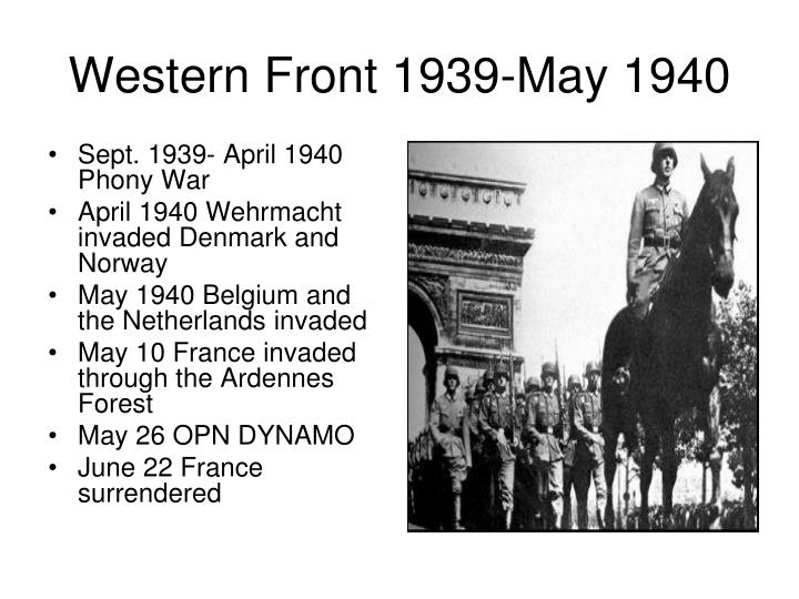 Sept. 1939- April 1940 Phony War
