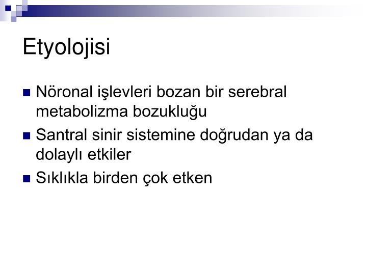 Etyolojisi
